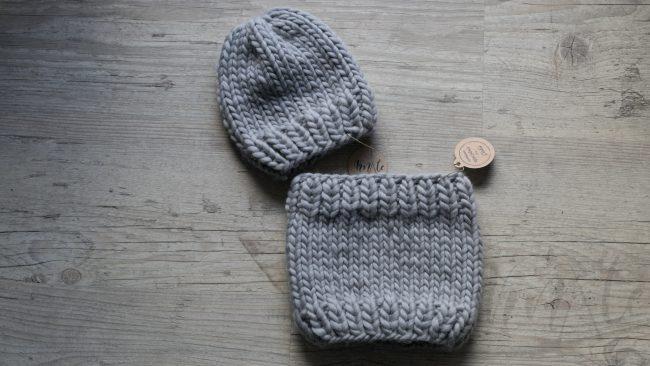 Komplet dziecięcy - komin i czapka
