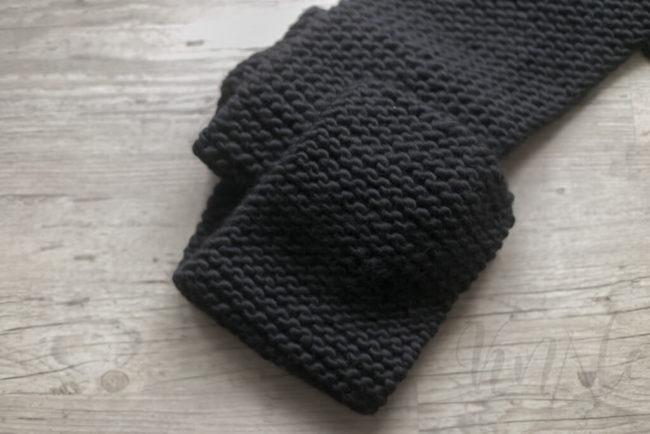 Szalik wełniany czarny