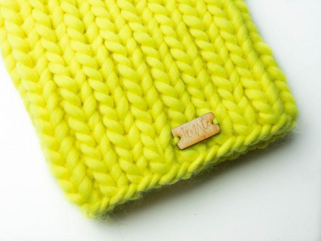 Czapka neonowa żółta