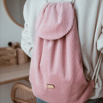 Plecak worek różowy