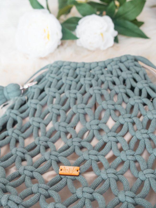 Plecak laurowy z beżowym organizerem