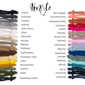 Karta kolorystyczna Sznurek bawełniany