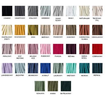 Karta kolorystyczna - sznurek bawełniany
