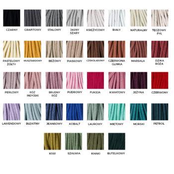Wzornik kolorów - gruby sznurek