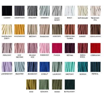 Karta kolorystyczna - gruby sznurek